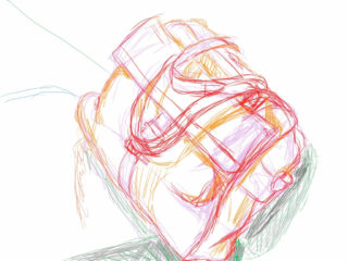 Designing handbags: handbag sketch by Naomi Chung's Daydream Art