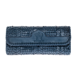 Purse TRECCIA blue by Conceria