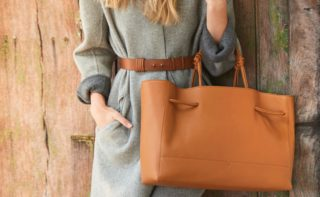von holzhausen designer bags: caramel tote wide single and coil belt