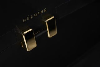 Maison Héroïne_Bag black_golden closure - Photo credits by Sebastian Donath from studio neoncolour