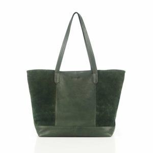 Shoulder Bag Deepmello sage out of Rhubarb Leather