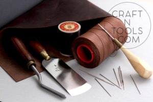 Angular Skiving Knife, Waxed Sewing Thread, Awl, Needles sold by CraftnTools