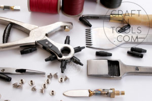 Leather Tools - Pricking Iron, Revolving Hole Punches and Studs sold by Craftn Tools