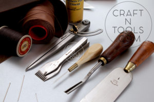 Leather Working Tools - Skiving Knife, Edge Beveler, Awl, Pricking Irons, Groove Compass, Sewing Thread sold by CraftnTools