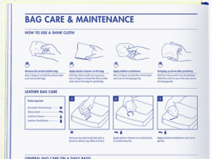 Bag Care & Maintenance Instructions