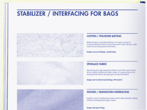 Interfacing and Stabilizer for Bags