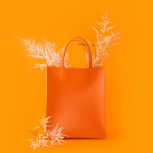 Fibreno Leather Goods: Fibreno Bag orange