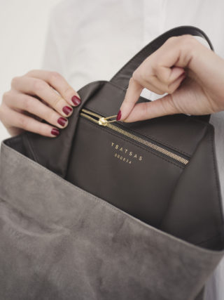 Tsatsas handbags: Fluke Bag grey
