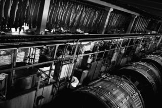 Leather-tanning: Tanning Drums and drying Leather
