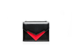 Belloni de Silva: Pragmantica handbag black front view