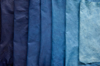 indigo leather different shaes of blue by SUKUMO
