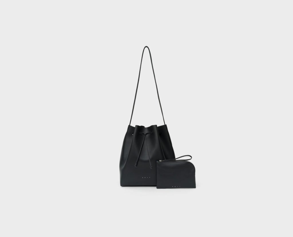 Ladies' Bags_Bucket Bag VELT_black_front