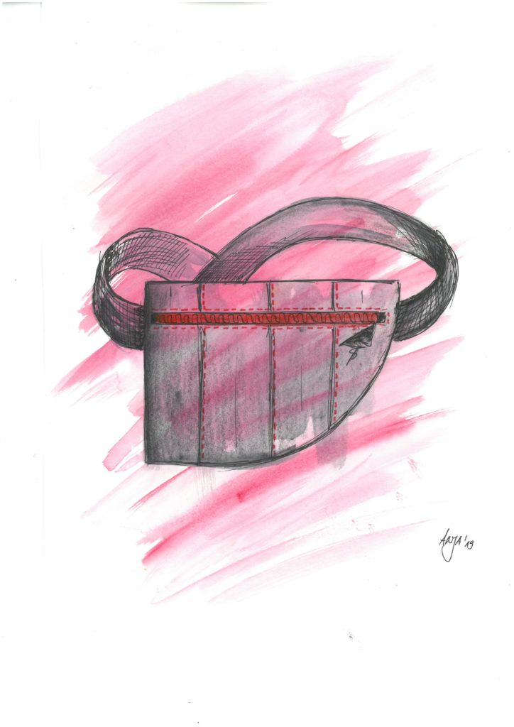 Graduation collection Anja Wanninger_belt bag drawing