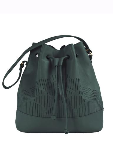bucket bag_gree_Lara Kazis_Cut Out