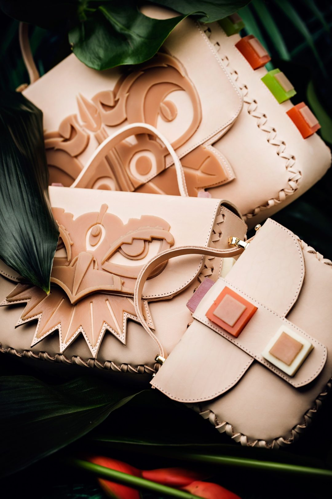 Leather bags collection Gods of Teótihuacán by Nadine Eismann, photographer Christian Metzler