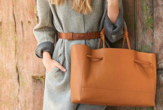 von holzhausen designer bags: caramel tote wide single and coil belt