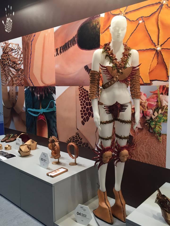 Craft the Leather competition 2016 stand at Lineapelle, Consorzio Vera Pelle Italiana Conciata al Vegetale