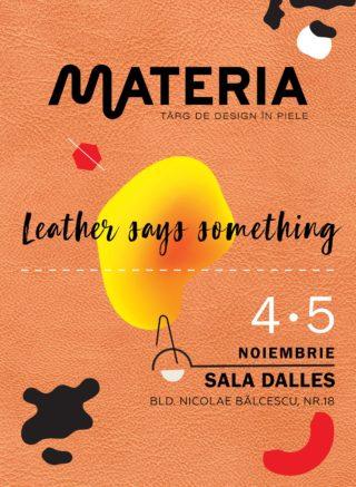 MATERIA leather design fair poster