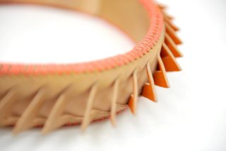 eather goods design_leather alice band by Whitney Bai